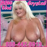 BBW phonesex with Crystal 1-88-442-8919